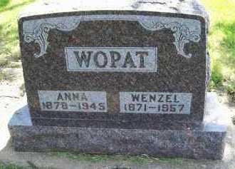 WOPAT, ANNA - Hamlin County, South Dakota | ANNA WOPAT - South Dakota Gravestone Photos