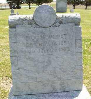 WOPAT, FRANK - Hamlin County, South Dakota   FRANK WOPAT - South Dakota Gravestone Photos