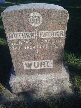 WURL, BERTHA - Hamlin County, South Dakota | BERTHA WURL - South Dakota Gravestone Photos
