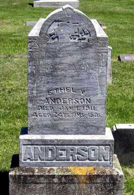 ANDERSON, ETHEL - Hanson County, South Dakota | ETHEL ANDERSON - South Dakota Gravestone Photos