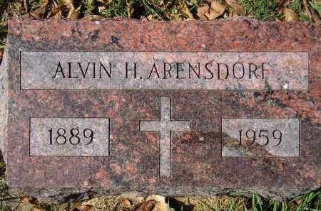 ARENSDORF, ALVIN H. - Hanson County, South Dakota | ALVIN H. ARENSDORF - South Dakota Gravestone Photos
