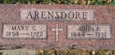 ARENSDORF, JOHN P. - Hanson County, South Dakota | JOHN P. ARENSDORF - South Dakota Gravestone Photos