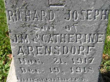 ARENSDORF, RICHARD JOSEPH - Hanson County, South Dakota | RICHARD JOSEPH ARENSDORF - South Dakota Gravestone Photos