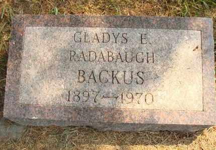 RADABAUGH BACKUS, GLADYS E. - Hanson County, South Dakota | GLADYS E. RADABAUGH BACKUS - South Dakota Gravestone Photos