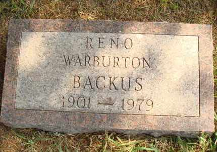 BACKUS, RENO - Hanson County, South Dakota | RENO BACKUS - South Dakota Gravestone Photos