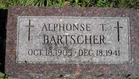 BARTSCHER, ALPHONSE T. - Hanson County, South Dakota | ALPHONSE T. BARTSCHER - South Dakota Gravestone Photos