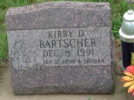 BARTSCHER, KIRBY D. - Hanson County, South Dakota   KIRBY D. BARTSCHER - South Dakota Gravestone Photos