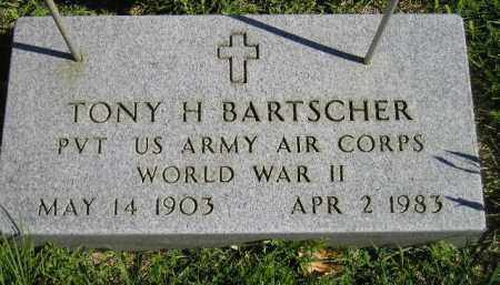 BARTSCHER, TONY H. - Hanson County, South Dakota | TONY H. BARTSCHER - South Dakota Gravestone Photos