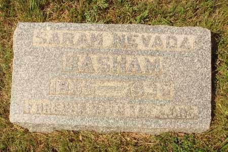 NEVADA BASHAM, SARA - Hanson County, South Dakota | SARA NEVADA BASHAM - South Dakota Gravestone Photos