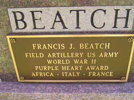 BEATCH, FRANCIS J. (WW II) - Hanson County, South Dakota | FRANCIS J. (WW II) BEATCH - South Dakota Gravestone Photos