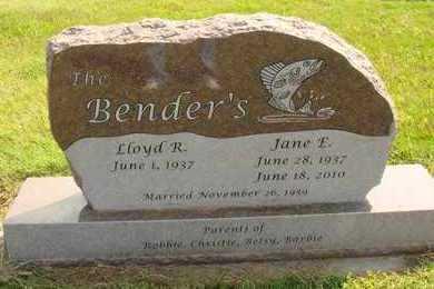 BENDER, LLOYD R. - Hanson County, South Dakota   LLOYD R. BENDER - South Dakota Gravestone Photos