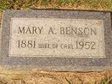 BENSON, MARY A. - Hanson County, South Dakota | MARY A. BENSON - South Dakota Gravestone Photos
