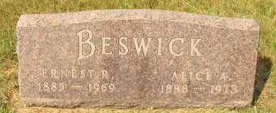 BESWICK, EARNEST R. - Hanson County, South Dakota   EARNEST R. BESWICK - South Dakota Gravestone Photos