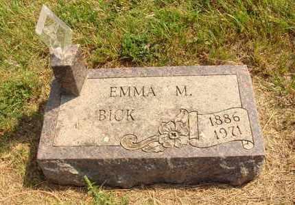 BICK, EMMA M. - Hanson County, South Dakota | EMMA M. BICK - South Dakota Gravestone Photos
