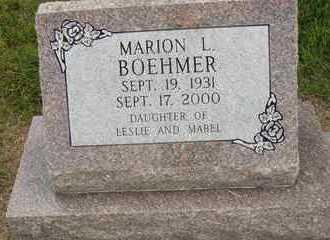 BOEHMER, MARION L. - Hanson County, South Dakota | MARION L. BOEHMER - South Dakota Gravestone Photos