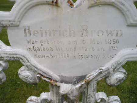 BROWN, HEINRICH - Hanson County, South Dakota   HEINRICH BROWN - South Dakota Gravestone Photos