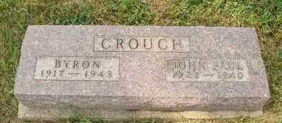 CROUCH (DUPL), BYRON - Hanson County, South Dakota | BYRON CROUCH (DUPL) - South Dakota Gravestone Photos