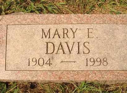 DAVIS, MARY E. - Hanson County, South Dakota   MARY E. DAVIS - South Dakota Gravestone Photos