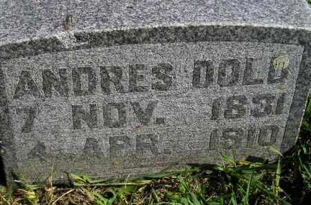 DOLD, ANDRES - Hanson County, South Dakota | ANDRES DOLD - South Dakota Gravestone Photos