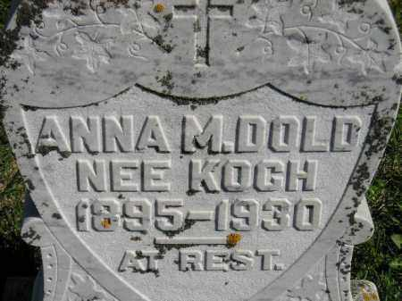 DOLD, ANNA M. - Hanson County, South Dakota | ANNA M. DOLD - South Dakota Gravestone Photos