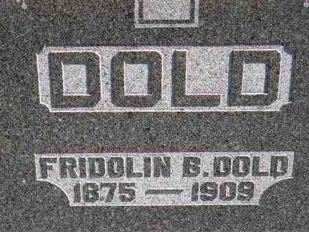 DOLD, FRIDOLIN B. - Hanson County, South Dakota | FRIDOLIN B. DOLD - South Dakota Gravestone Photos