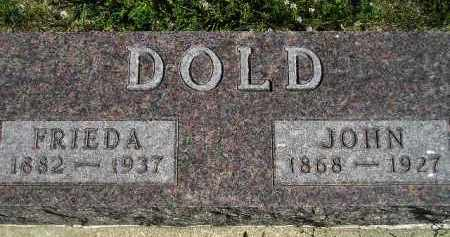 DOLD, FRIEDA - Hanson County, South Dakota | FRIEDA DOLD - South Dakota Gravestone Photos