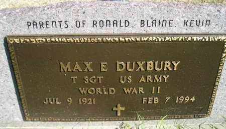 DUXBURY, MAX E. (WW II) - Hanson County, South Dakota | MAX E. (WW II) DUXBURY - South Dakota Gravestone Photos