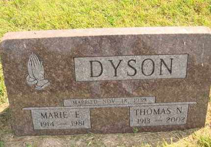 DYSON, MARIE E. - Hanson County, South Dakota | MARIE E. DYSON - South Dakota Gravestone Photos