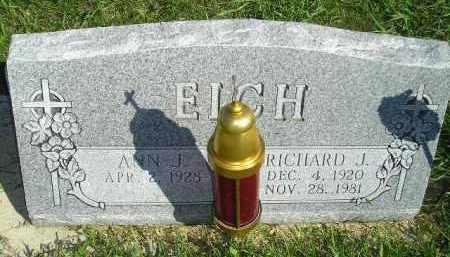 EICH, ANN J. - Hanson County, South Dakota | ANN J. EICH - South Dakota Gravestone Photos