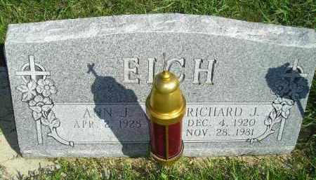 EICH, RICHARD J. - Hanson County, South Dakota | RICHARD J. EICH - South Dakota Gravestone Photos