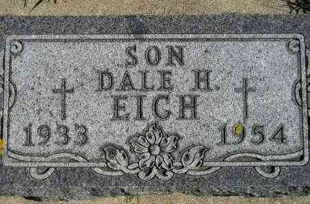 EICH, DALE H. - Hanson County, South Dakota   DALE H. EICH - South Dakota Gravestone Photos