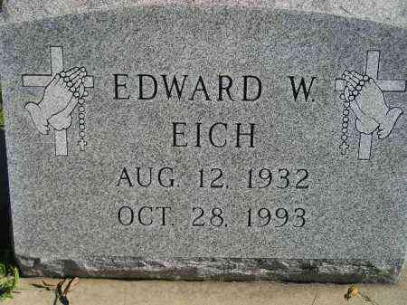 EICH, EDWARD W. - Hanson County, South Dakota | EDWARD W. EICH - South Dakota Gravestone Photos