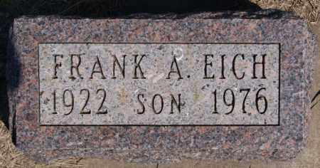 EICH, FRANK A - Hanson County, South Dakota | FRANK A EICH - South Dakota Gravestone Photos
