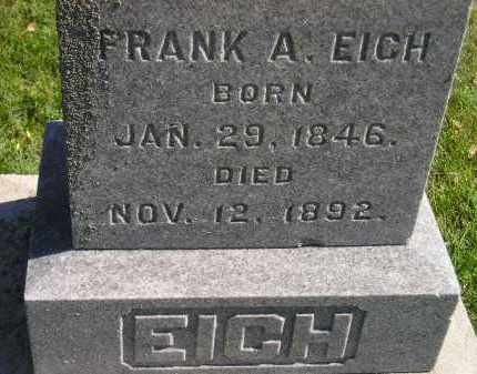 EICH, FRANK A. - Hanson County, South Dakota | FRANK A. EICH - South Dakota Gravestone Photos