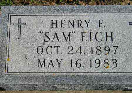 "EICH, HENRY F. ""SAM"" - Hanson County, South Dakota 