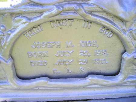 EICH, JOSEPH M. - Hanson County, South Dakota | JOSEPH M. EICH - South Dakota Gravestone Photos