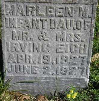 EICH, MARLEEN M. - Hanson County, South Dakota   MARLEEN M. EICH - South Dakota Gravestone Photos
