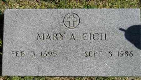 EICH, MARY A. - Hanson County, South Dakota | MARY A. EICH - South Dakota Gravestone Photos