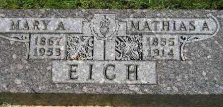 EICH, MARY A. - Hanson County, South Dakota   MARY A. EICH - South Dakota Gravestone Photos