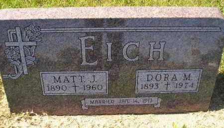 EICH, MATT J. - Hanson County, South Dakota   MATT J. EICH - South Dakota Gravestone Photos