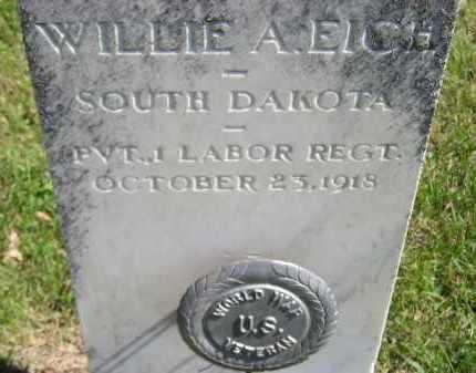 EICH, WILLIE A. - Hanson County, South Dakota   WILLIE A. EICH - South Dakota Gravestone Photos