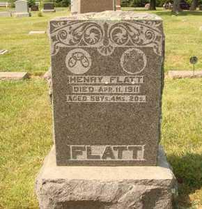 FLATT, HENRY - Hanson County, South Dakota | HENRY FLATT - South Dakota Gravestone Photos