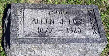 FOSS, ALLEN - Hanson County, South Dakota | ALLEN FOSS - South Dakota Gravestone Photos