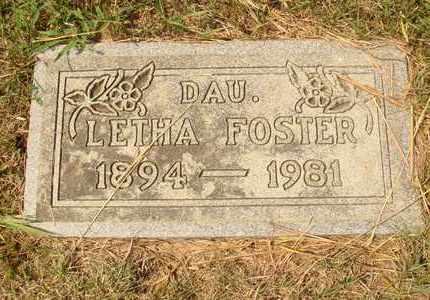 FOSTER, LETHA - Hanson County, South Dakota | LETHA FOSTER - South Dakota Gravestone Photos