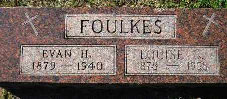 FOULKES, EVAN H. - Hanson County, South Dakota | EVAN H. FOULKES - South Dakota Gravestone Photos
