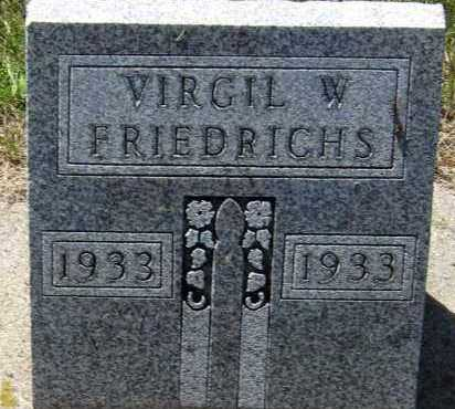 FRIEDRICHS, VIRGIL - Hanson County, South Dakota | VIRGIL FRIEDRICHS - South Dakota Gravestone Photos