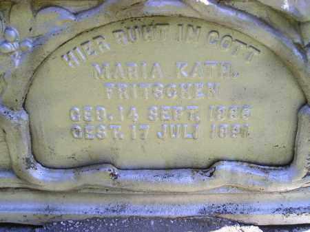 FRITSCHEN, MARIA KATH. - Hanson County, South Dakota   MARIA KATH. FRITSCHEN - South Dakota Gravestone Photos