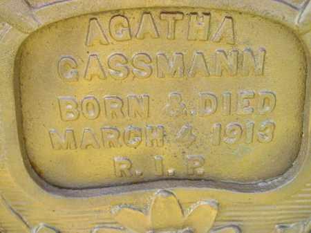GASSMANN, AGATHA - Hanson County, South Dakota | AGATHA GASSMANN - South Dakota Gravestone Photos