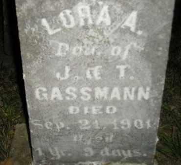 GASSMANN, LORA A. - Hanson County, South Dakota | LORA A. GASSMANN - South Dakota Gravestone Photos