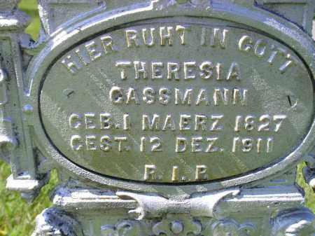 GASSMANN, THERESIA - Hanson County, South Dakota | THERESIA GASSMANN - South Dakota Gravestone Photos